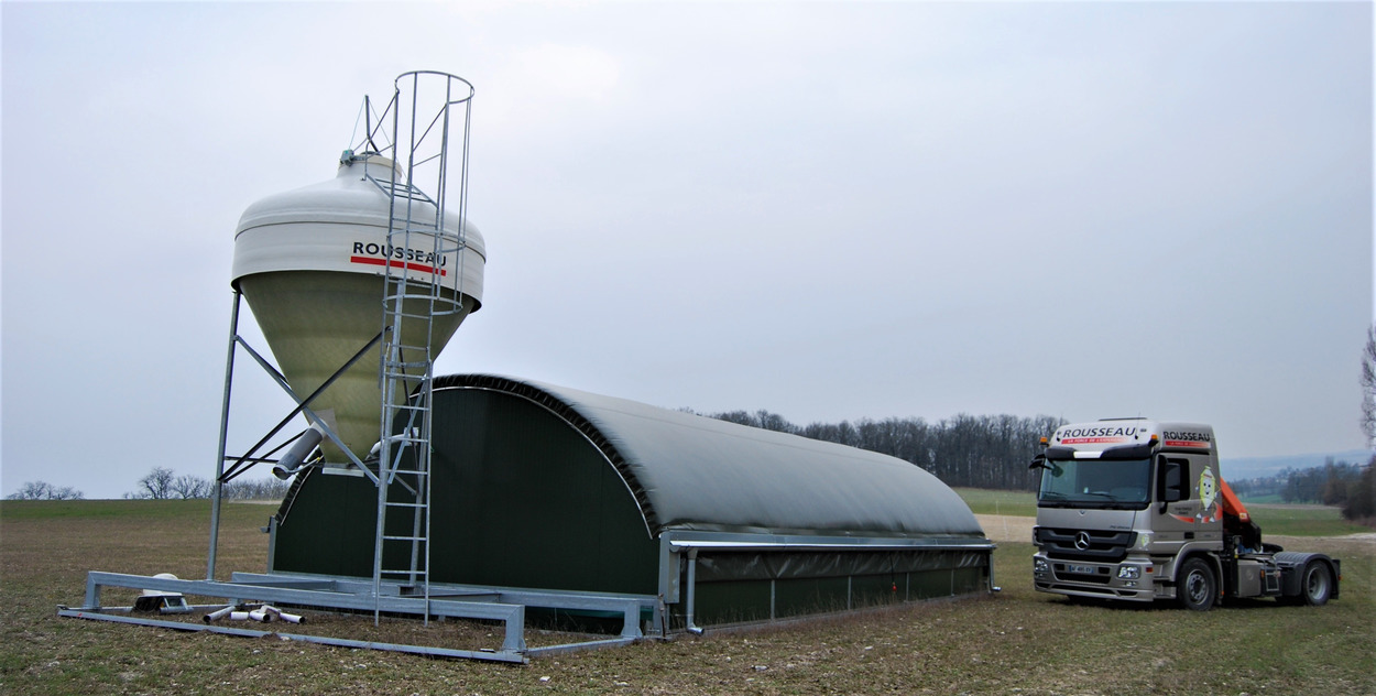 Silo Star transportable et camion