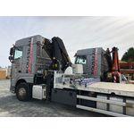 Grues de levage sur camions semi-remorque