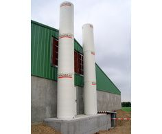Cheminées d'extraction d'air